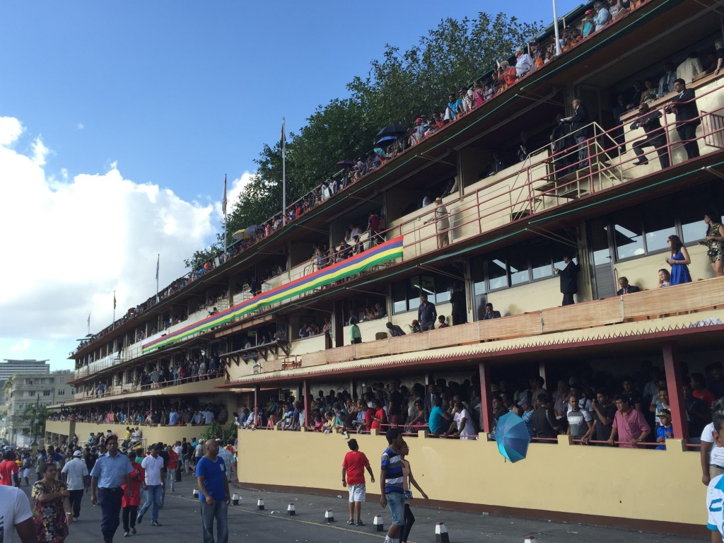 The Grandstand was packed well before the first race