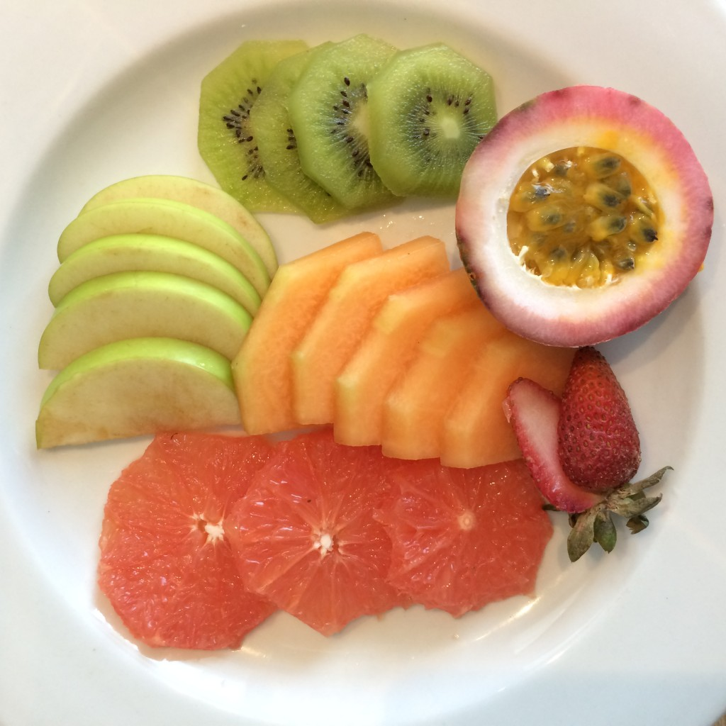 Delicious fresh fruit platter