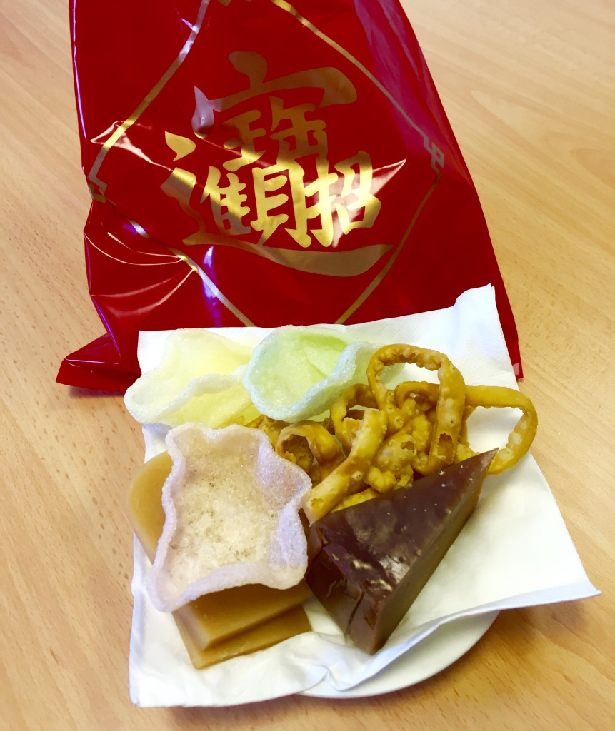 Nian Gao in a red and gold bag (lucky colours)